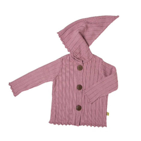Nui Organics Merino Hooded Jacket - Knits - Rose - Toddler - Hoodies & Cardigans - Natural Baby Shower