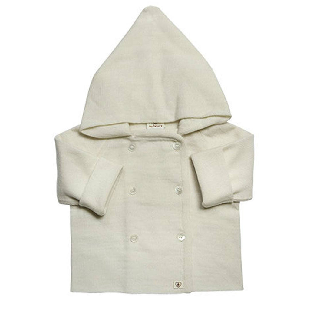 Nurtured by Nature Hooded Jacket - Pure Merino - Buttercream - Hoodies & Cardigans - Natural Baby Shower