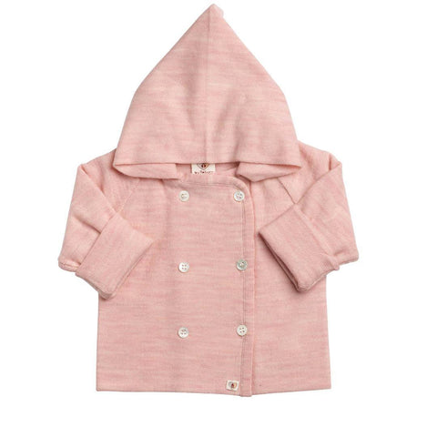 Hoodies & Cardigans - Nurtured By Nature Hooded Jacket - Pure Merino - Candytuft