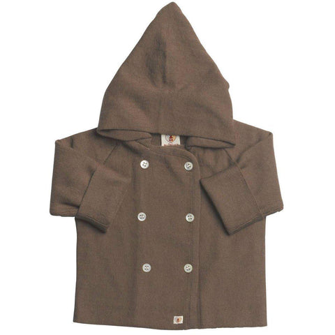 Nurtured by Nature Hooded Jacket - Pure Merino - Chocolate - Hoodies & Cardigans - Natural Baby Shower