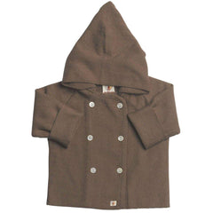 Hoodies & Cardigans - Nurtured By Nature Hooded Jacket - Pure Merino - Chocolate