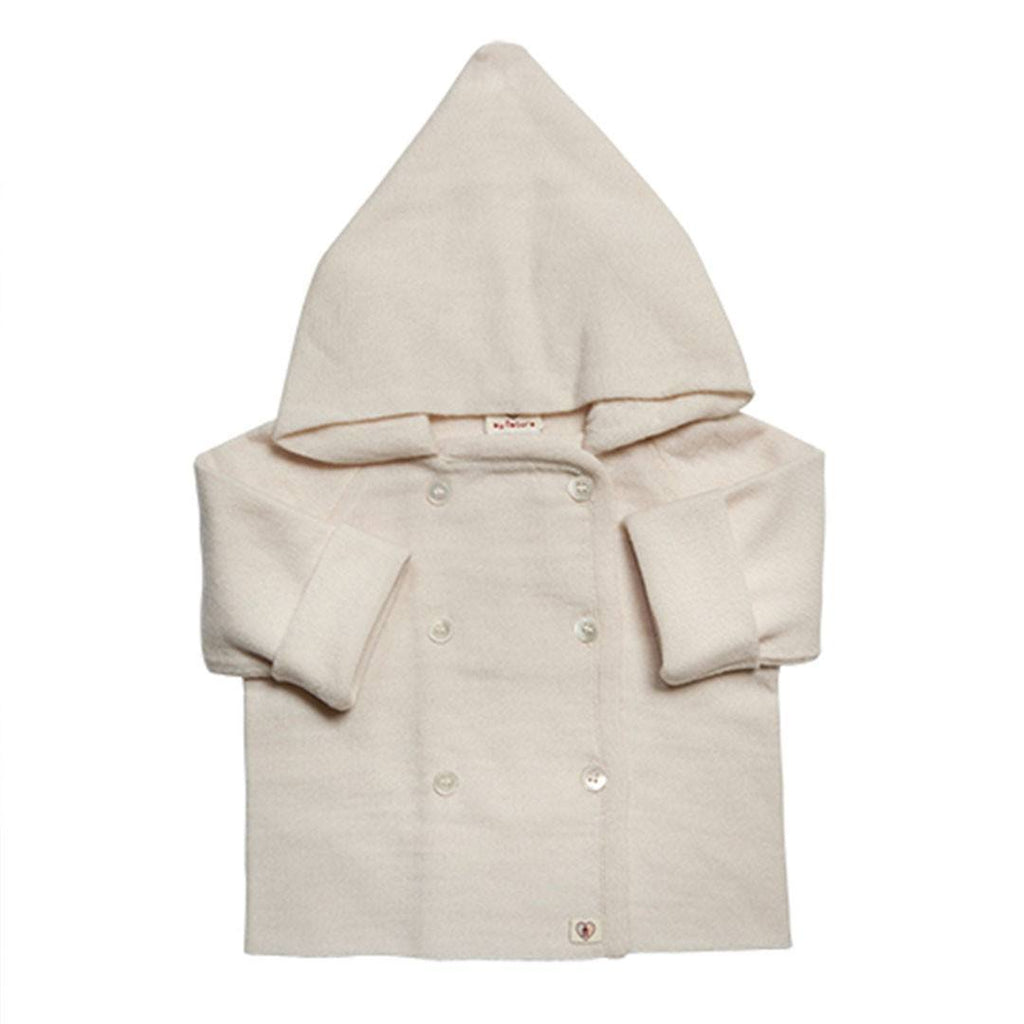 Hoodies & Cardigans - Nurtured By Nature Hooded Jacket - Pure Merino - Cream