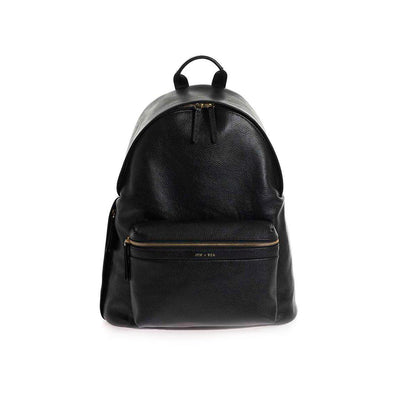 JEM + BEA Jamie Changing Bag - Leather Black-Changing Bags-Black- Natural Baby Shower