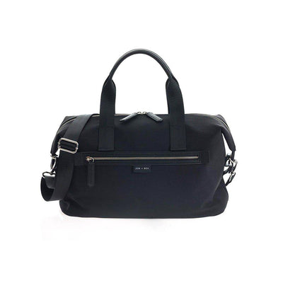 JEM + BEA Sustainable Edie Eco Holdall - Black-Changing Bags- Natural Baby Shower