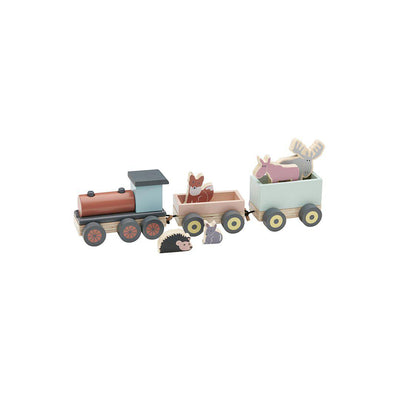 Kid's Concept Animal Wood Train - EDVIN Multi-Play Sets-Multi- Natural Baby Shower