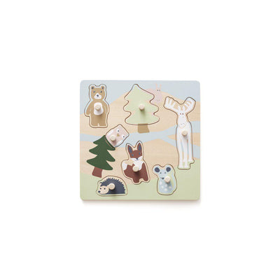 Kid's Concept Puzzle with Knobs - EDVIN Natural-Puzzles-Natural- Natural Baby Shower