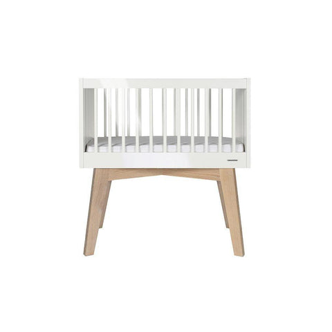 Kidsmill Sixties Crib - White & Oak High Gloss - Cribs - Natural Baby Shower