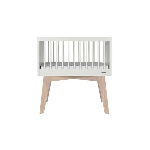 Kidsmill Sixties Crib - White & Oak-Cribs- Natural Baby Shower