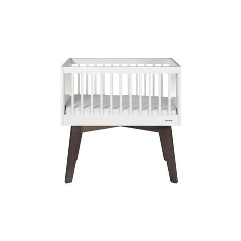 Kidsmill Sixties Crib - White & Pine High Gloss - Cribs - Natural Baby Shower