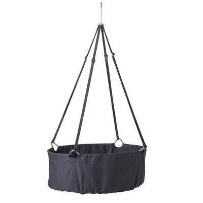 Leander Cradle with Mattress and Hook - Grey-Cradles & Hammocks-Grey- Natural Baby Shower