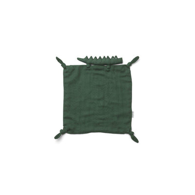 Liewood Agnete Cuddle Cloth - Crocodile - Garden Green-Comforters-Crocodile Garden Green- Natural Baby Shower