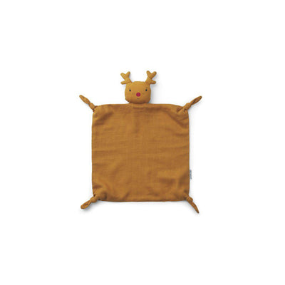 Liewood Agnete Cuddle Cloth - Reindeer - Mustard-Comforters- Natural Baby Shower