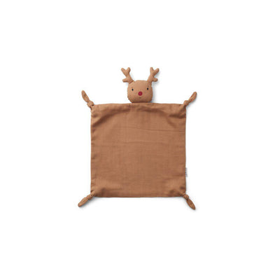 Liewood Agnete Cuddle Cloth - Reindeer - Tuscany Rose-Comforters- Natural Baby Shower