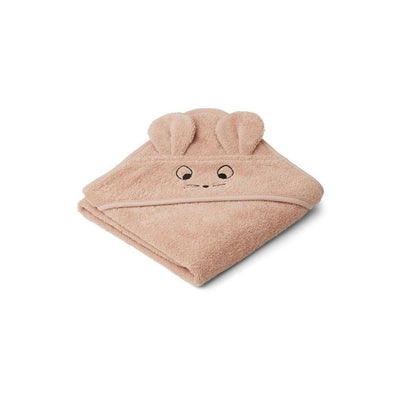 Liewood Albert Hooded Baby Towel - Mouse - Pale Tuscany-Towels & Robes-Mouse - Pale Tuscany- Natural Baby Shower