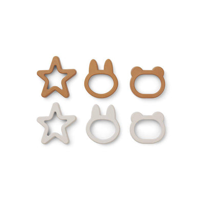 Liewood Andy Cookie Cutter - Mustard Mix - 6 Pack-Food Kits- Natural Baby Shower