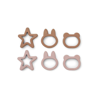 Liewood Andy Cookie Cutters - Rose Mix - 6 Pack-Food Kits- Natural Baby Shower