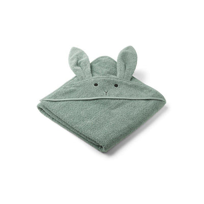 Liewood Augusta Hooded Towel - Rabbit - Peppermint-Towels & Robes-Rabbit Peppermint- Natural Baby Shower