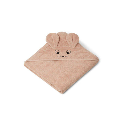 Liewood Augusta Hooded Towel - Mouse - Pale Tuscany-Towels & Robes-Mouse - Pale Tuscany- Natural Baby Shower
