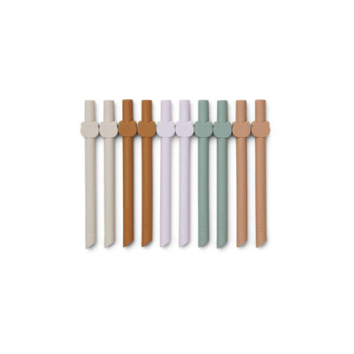 Liewood Badu Straw Multi Mix - 10 Pack-Cups & Straws-Multi Mix- Natural Baby Shower