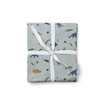 Liewood Ingeborg Junior Bedding - Dino Dove Blue Mix-Bedding Sets- Natural Baby Shower