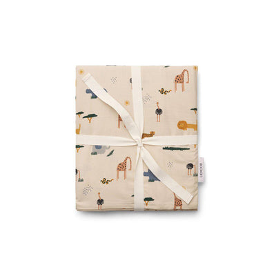 Liewood Ingeborg Junior Bedding - Safari Sandy Mix-Bedding Sets-Safari Sandy Mix- Natural Baby Shower