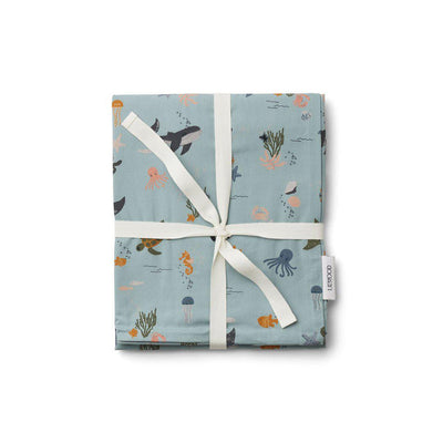 Liewood Ingeborg Junior Bedding - Sea Creature Mix-Bedding Sets- Natural Baby Shower