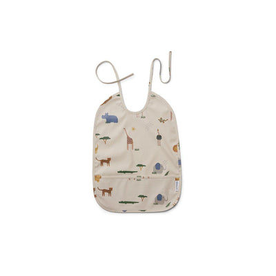 Liewood Lai Bib - Safari - Sandy Mix-Bibs-Safari Sandy Mix- Natural Baby Shower