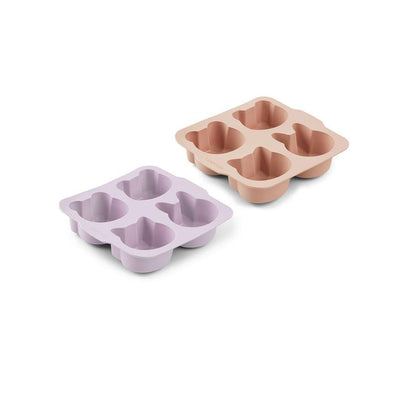 Liewood Mariam Cake Pans - Light Lavender + Rose Mix - 2 Pack-Food Storage-Light Lavender + Rose Mix- Natural Baby Shower