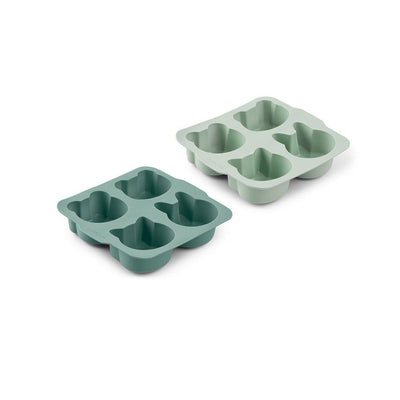 Liewood Mariam Cake Pans - Mint Mix - 2 Pack-Food Storage-Mint Mix- Natural Baby Shower