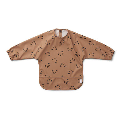 Liewood Merle Cape Bib - Panda Tuscany Rose-Bibs- Natural Baby Shower