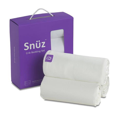 Snuz 3pc Crib Bedding Set - White-Bedding Sets-Default- Natural Baby Shower
