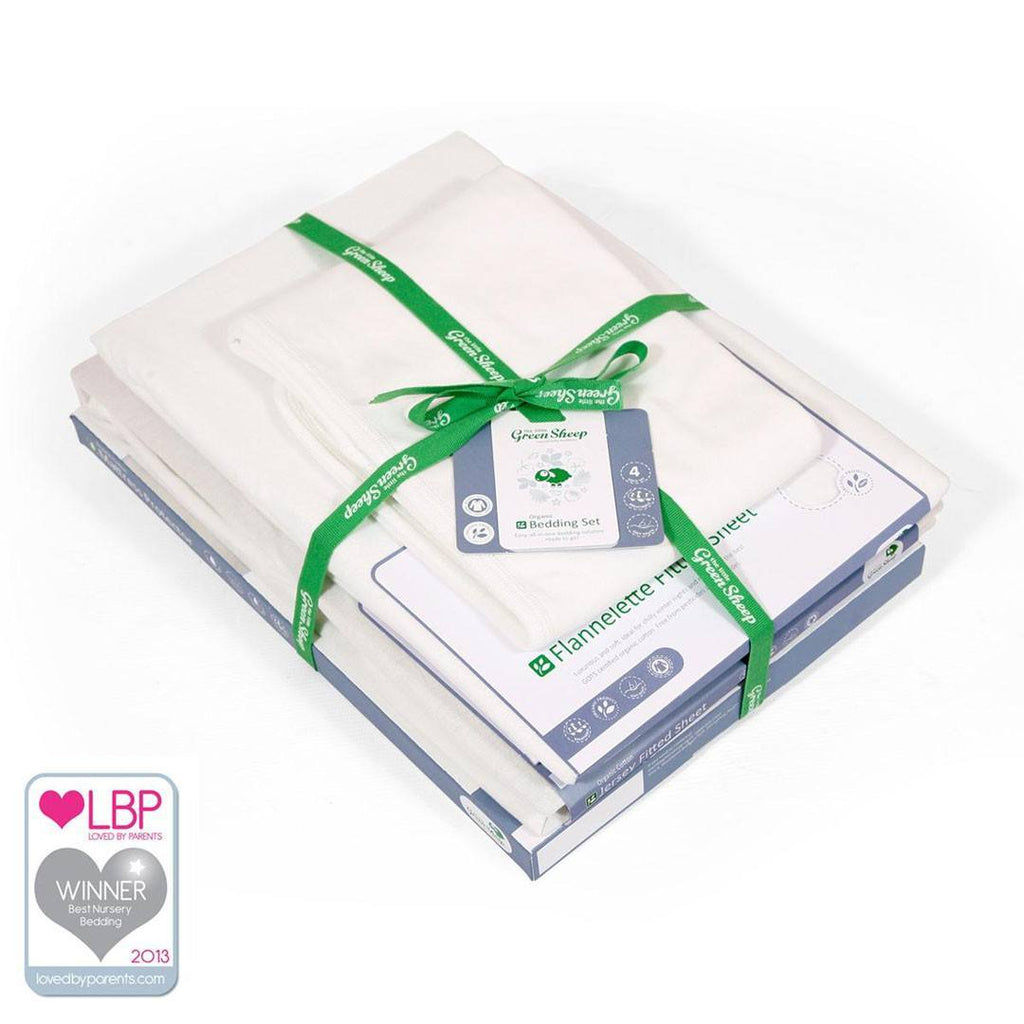 The Little Green Sheep - Cot Bedding Set - Sheets & Bedding - Natural Baby Shower