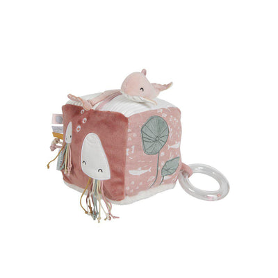 Little Dutch Soft Activity Cube - Ocean Pink-Soft Toys-Ocean Pink- Natural Baby Shower