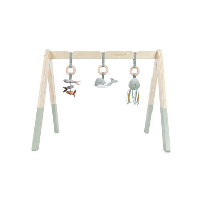 Little Dutch Wooden Baby Gym - Ocean Mint-Baby Gyms- Natural Baby Shower