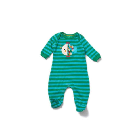 Little Green Radicals - Rainbow Fish Applique Babygrow