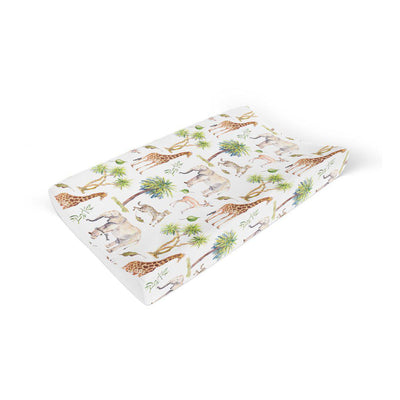 Mama Shack Anti Roll Changing Mat - Wild Safari-Changing Mats & Covers- Natural Baby Shower