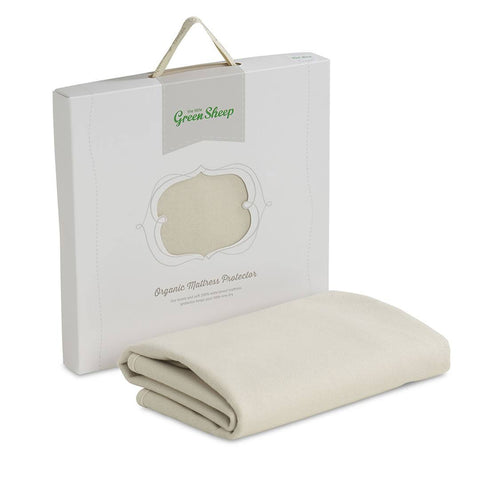 The Little Green Sheep - Organic Mattress Protector - Cot 60x120cm-Mattress Protectors-Default- Natural Baby Shower