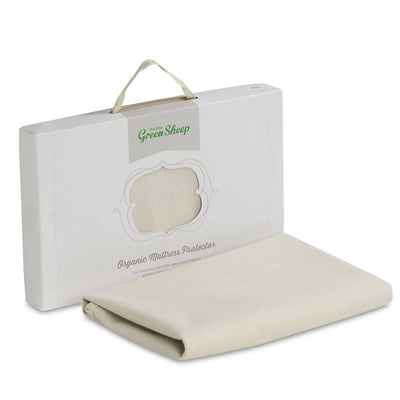 The Little Green Sheep - Organic Mattress Protector - Moses Basket 30x70cm-Mattress Protectors-Default- Natural Baby Shower