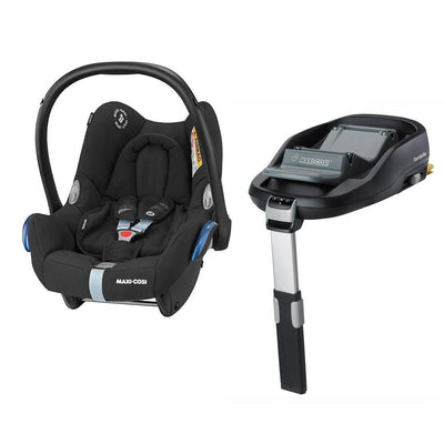 Maxi-Cosi CabrioFix & FamilyFix - Frequency Black-Car Seats- Natural Baby Shower