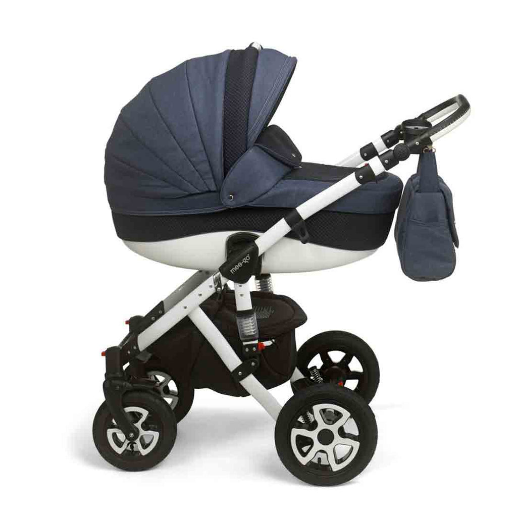 mee-go Milano Sport Pushchair - Heritage Blue & White 1