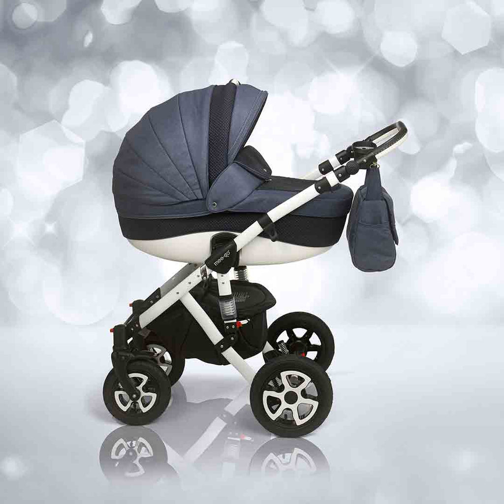 mee-go Milano Sport Pushchair - Heritage Blue & White 2