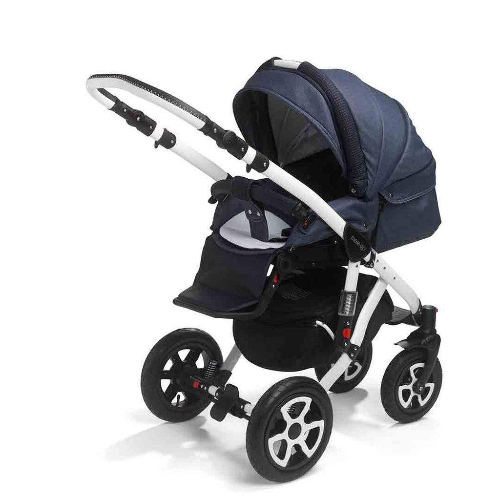 mee-go Milano Sport Pushchair - Heritage Blue & White