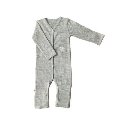 Merino Kids Cocooi All-in-One - Aoraki Grey-Rompers- Natural Baby Shower