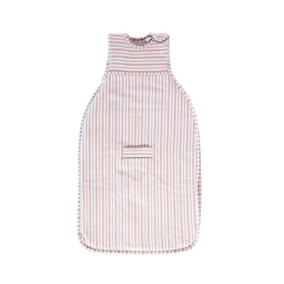 Merino Kids Go Go Sleeping Bag - Duvet Weight - Misty Rose Stripe-Sleeping Bags- Natural Baby Shower