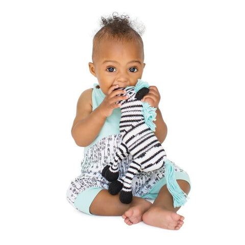 Finn + Emma Rattle Buddy - Daisy the Zebra-Rattles- Natural Baby Shower