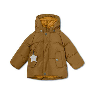 MINI A TURE Woody Jacket - Rubber Brown-Coats & Snowsuits- Natural Baby Shower