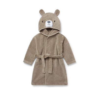 MORI Bath Robe - Bear - Taupe-Towels & Robes- Natural Baby Shower