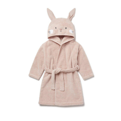 MORI Bath Robe - Bunny - Blush-Towels & Robes- Natural Baby Shower