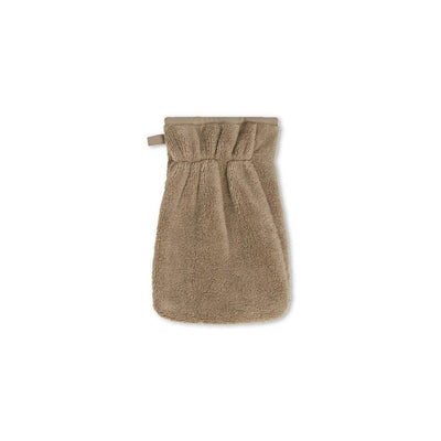 MORI Bath-Time Towel Mitt - Taupe-Bath Mitts-Taupe- Natural Baby Shower