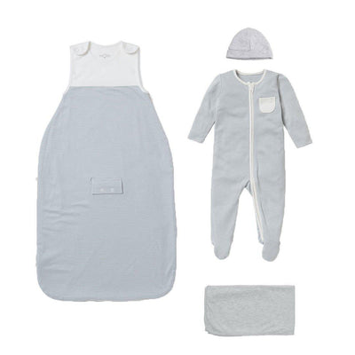 MORI Clever Sleep Set - Blue-Clothing Sets-Blue-0-3m- Natural Baby Shower